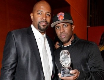 Power Moves CEO Shawn Prez (left) and DJ Whoo Kid (Courtesy of RadioPlanetTV)
