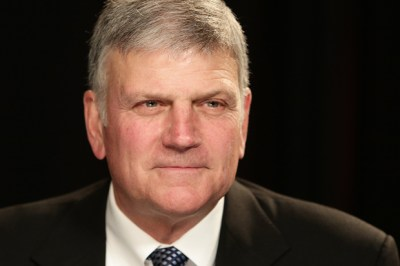 Franklin Graham before an interview at the Associated Press office on Tuesday, Oct. 15, 2013 in New York. (AP Photo/Peter Morgan)