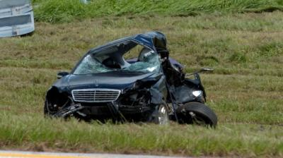 A gunman who shot two women in Miami led police on a high-speed chase that ended when he rammed into an innocent driver in 2013. The driver was killed. (AP Photo)