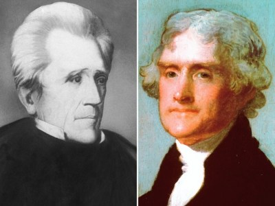 Andrew Jackson and Thomas Jefferson (AP Photo)