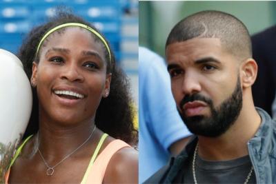 Serena Williams (left) and Drake (AP Photo)