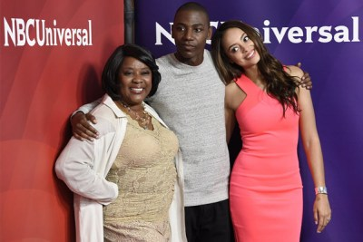 'The Carmichael Show' stars Loretta Devine (l.), Jerrod Carmichael (center), and Amber West (Chris Pizzello/Invision/AP)
