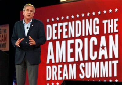 Republican presidential candidate, former Florida Gov. Jeb Bush, speaks at the Defending the American Dream summit hosted by Americans for Prosperity,Friday, Aug. 21, 2015, at the Greater Columbus Convention Center in Columbus, Ohio. (AP Photo/Paul Vernon)