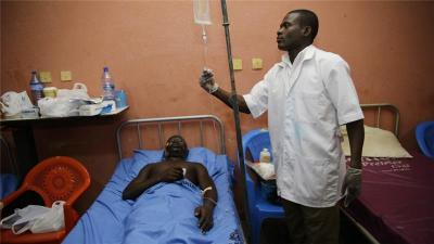 The Ghana government says the strike is illegal and that it will only negotiate when the medical staff return to work. (AP Photo)