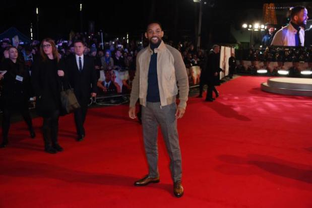 Will Smith at 'Focus' premiere. (Jonathan Short/Associated Press)