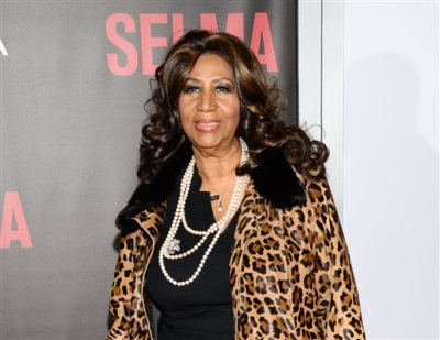 """In this Dec. 14, 2014 file photo, singer Aretha Franklin attends the premiere of """"Selma"""" in New York. Franklin will perform for Pope Francis at the Festival of Families concert on Saturday, Sept. 26, 2015.  (Photo by Evan Agostini/Invision/AP, File)"""
