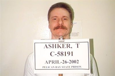This April 26, 2002 file photo provided by the California Department of Corrections and Rehabilitation, shows Todd Ashker, a validated leader of the Aryan Brotherhood, who has been in the Security Housing Unit since 1992.  Ashker, who is serving a life sentence for the second-degree murder of a fellow inmate at Folsom State prison in 1987,  is the first named inmate in a class-action lawsuit over solitary confinement at Pelican Bay State Prison. (California Department of Corrections and Rehabilitation via AP)