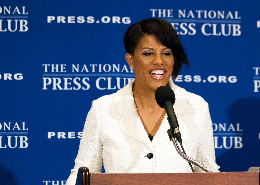 Mayor Stephanie Rawlings-Blake speaks during a press conference at the National Press Club in Washington, D.C. (Nancy Shia/The Washington Informer)