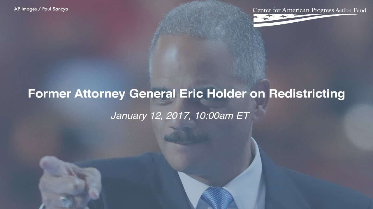 LIVESTREAM: Former Attorney General Eric Holder Discusses Redistricting