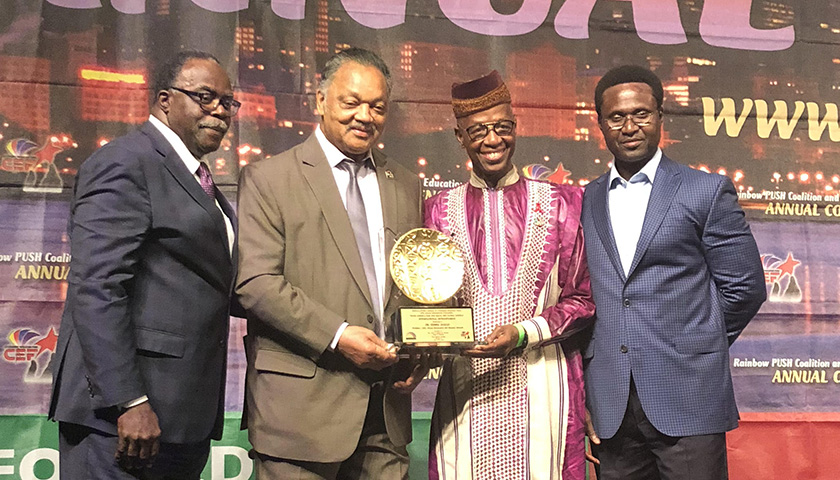 PRESS ROOM: African Renaissance and Diaspora Network, Inc., President and CEO, Dr. Djibril Diallo Receives Rainbow PUSH Coalition 2018 International Humanitarian Award