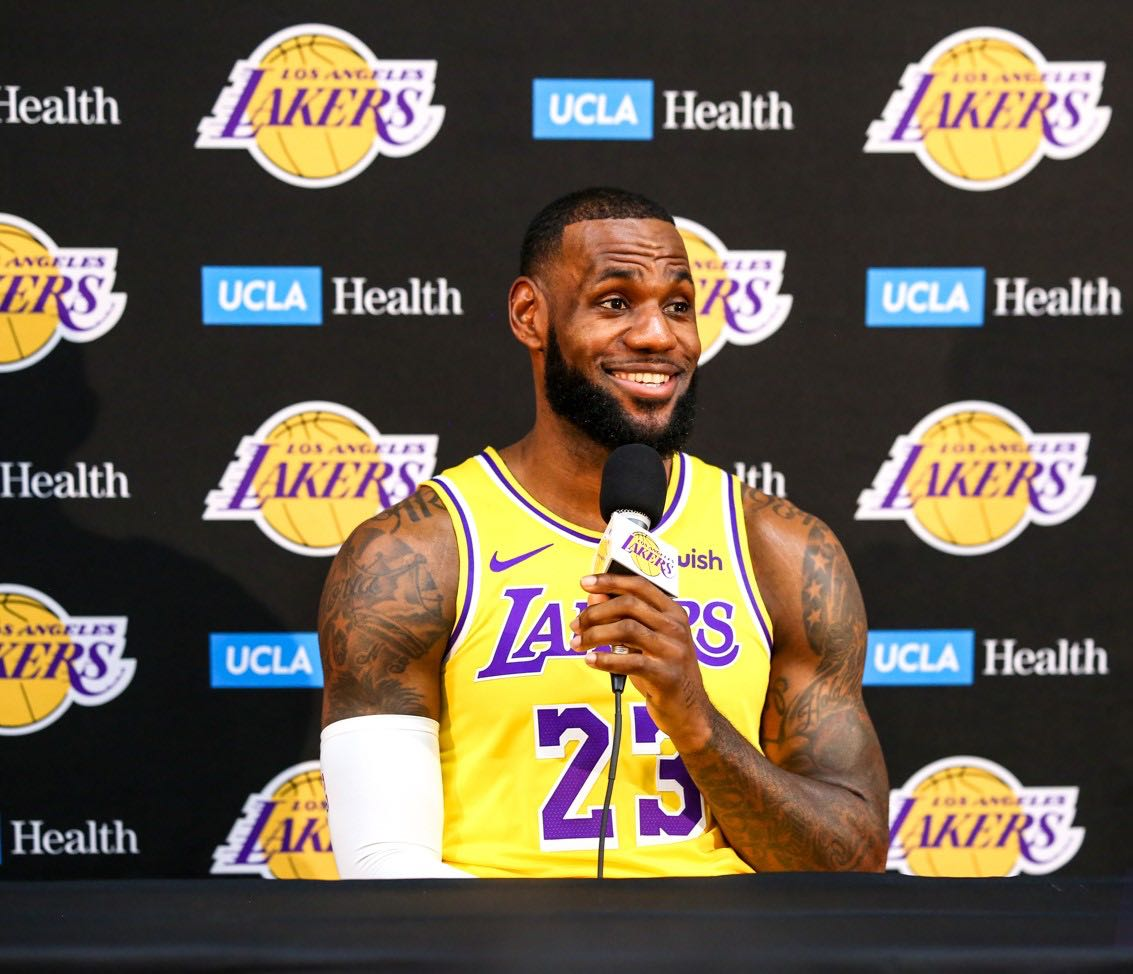 official photos 90e7d 7a355 LeBron James Tempers Expectations in Lakers  Return to Competitiveness    BlackPressUSA   BlackPressUSA