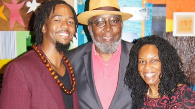 (l-r) Phillip McGraw, Ta-coumba Aiken and Theresa Nix. Photo by Katie Matson-Daley