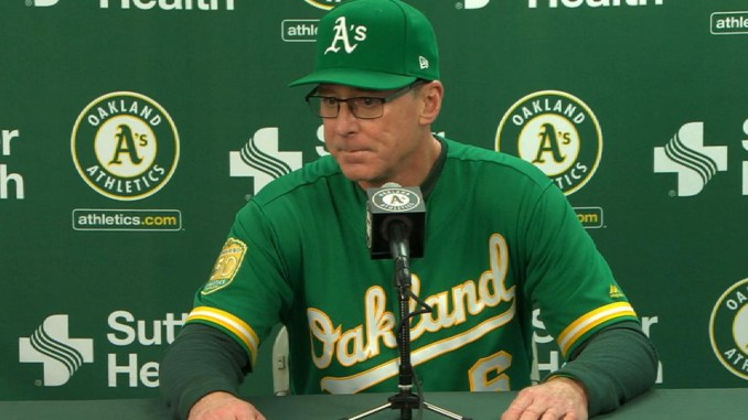 Oakland A's manager Bob Melvin praises Davis, Canha in walk-off win Sep 21, 2018