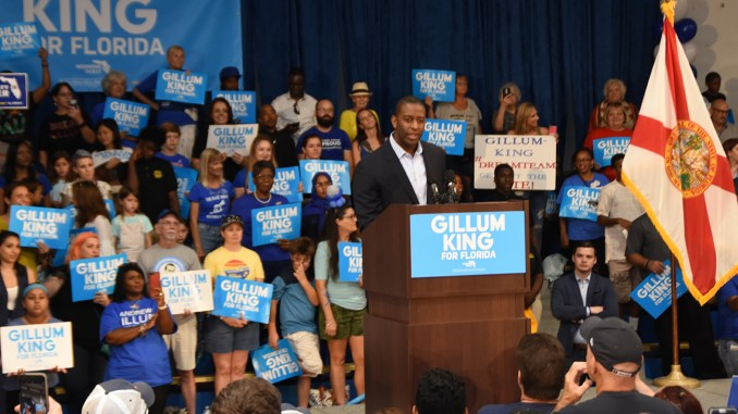On September 8th, America discovered that Mayor Andrew Gillum's vision is larger than a Democratic platform. (Photo: Gillum King for Florida campaign)