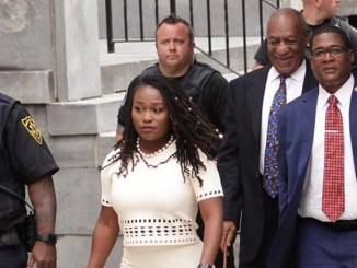Photo: Bill Cosby with publicists Andrew Wyatt and Ebonee Benson (Photo: Ebonee Benson / Facebook)