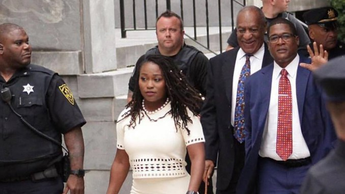 Photo: Bill Cosby with publicists Andrew Wyatt and Ebonee Benson (Photo: Ebonee Benson / Facebook)