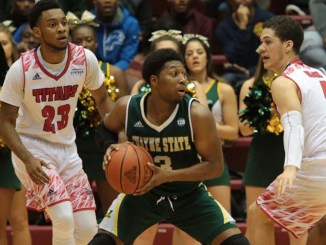 Detroit Mercy senior guard Josh McFolley (left) has one last shot at Wayne State in the City College Series November 3.