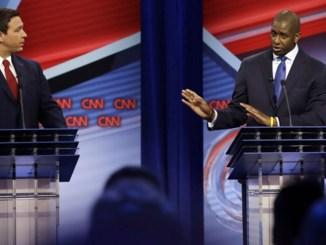Florida gubernatorial candidates, Republican Ron DeSantis, left, and Democrat Andrew Gillum