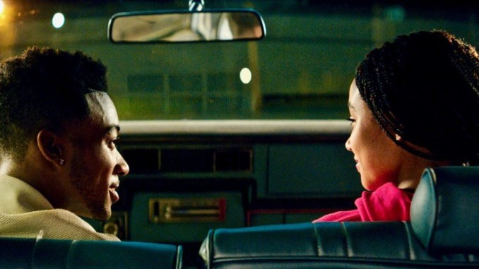 (l-r) Algee Smith and Amandla Stenberg star in The Hate U Give