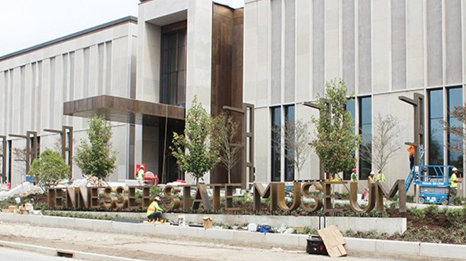 The Tennessee State Museum's new building was receiving some finishing touches prior to its opening on October 4, 2018. Photo by Russell Rivers, Jr.
