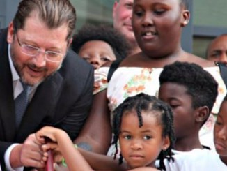 A photo of D.C. Council member David Grosso (D- At Large) with local youth. Grosso introduced a bill to address all forms of abuse and sexual assault in District schools. (Courtesy Photo)