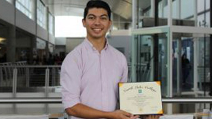 Steve Lomeli, a senior a Singley Academy earns his associate's degree through the College Early Start Program and The Dallas County Promise.