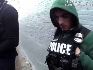 Screen capture of Axon Body Camera footage.