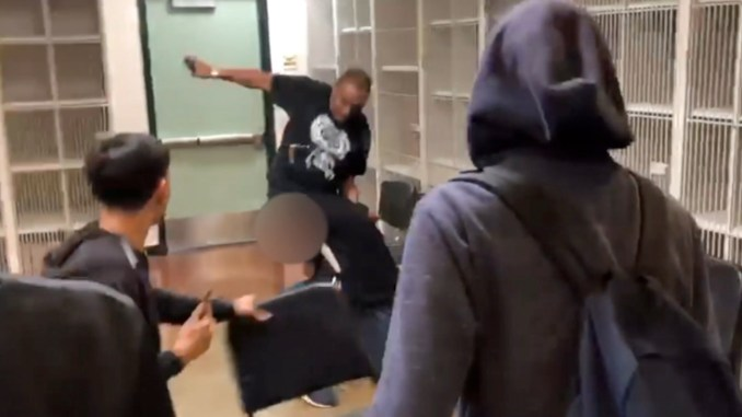 Screenshot of Marston Riley fighting student.