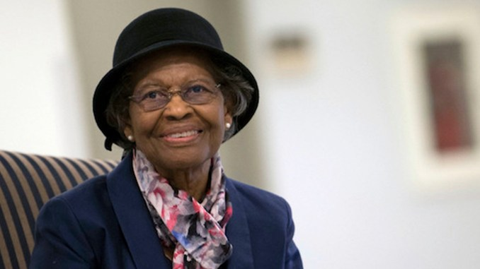 Gladys West (Courtesy of Air Force Space Command/Adrian Cadiz)