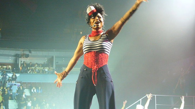 Janet Jackson performing in Vancouver.