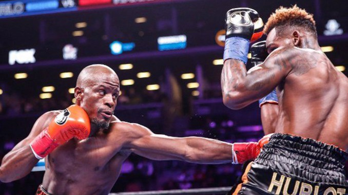 Tony Harrison (left) defeated Jermell Charlo (right) for the WBC Junior Middleweight title.