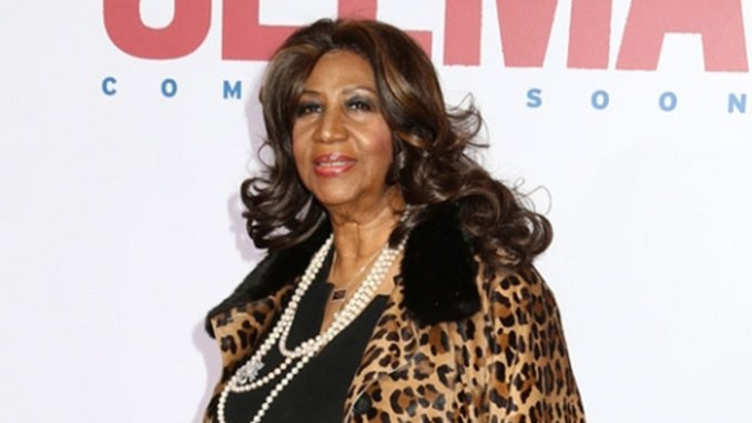 "Aretha Franklin attends the premiere of ""Selma"" at the Ziegfeld Theatre on December 14, 2014, in New York City. (Photo credit: J Stone/Shutterstock)"