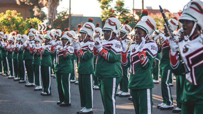 """FAMU's Marching """"100"""". Photo by The Florida Star"""
