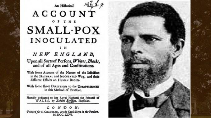 Onesimus and his inoculation account (Photo: Face2FaceAfrica.com)