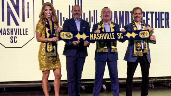 Nashville MLS expansion team crest, logo, and colors were unveiled at a celebration at Marathon Music Works.