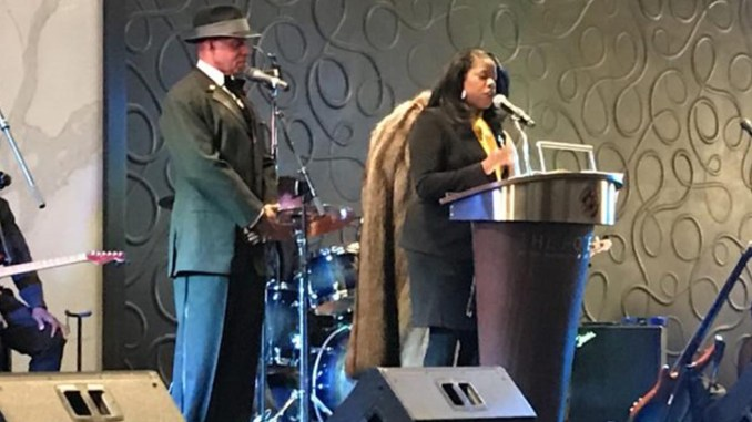 Prince George's County State's Attorney Aisha Braveboy at the Zonta Club of Mid-Maryland and Yellow Rose Foundation annual fundraiser at the Hotel at the University of Maryland in College Park, MD on Feb. 16.