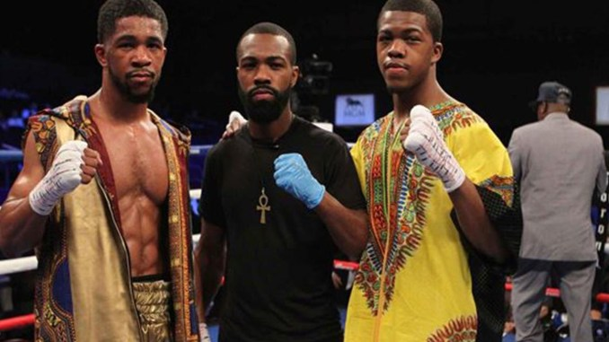 The Russell Family: Gary Antonio, world champion Gary, Jr., and Gary Antuanne became successful boxers after winning the local Golden Gloves championships before turning pro. (Courtesy Photo)