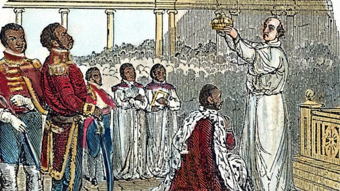 An 1811 wood engraving depicts the coronation of King Henry (Image by: Fine Art America)