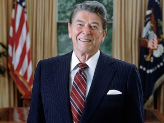 Ronald Reagan's presidential portrait (Photo by: Wiki Commons)
