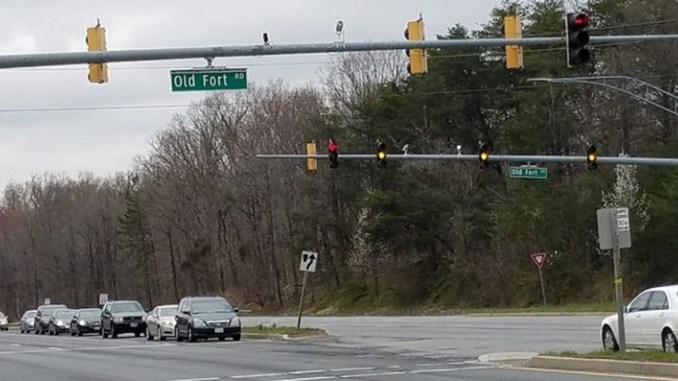 The intersection of Route 210 and Old Fort Road near the Potomac Village shopping center in Fort Washington, Maryland (Photo by: William J. Ford/The Washington Informer)