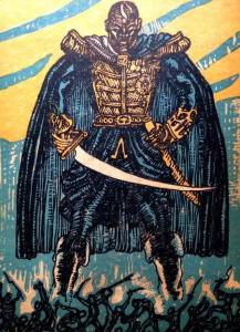 Illustrator Mahlon Blaine depicts King Henry on the cover of the 1928 book Black Majesty. // @paulclammer/Twitter