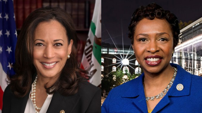 Today, U.S. Senator Kamala D. Harris (D-CA) (left) reintroduced a bill directing Congress to commission a statue of former U.S. Representative Shirley Chisholm to be displayed in the United States Capitol. Companion legislation will also be introduced today in the House of Representatives by Rep. Yvette Clarke (D-NY) (right).