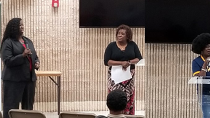 Broward County Clerk of Courts, Chief Director Nakia Smith and Clerk Brenda Foreman (right) spoke on fines and restitution.Marsha Ellison, President of the Fort Lauderdale Branch of the NAACP