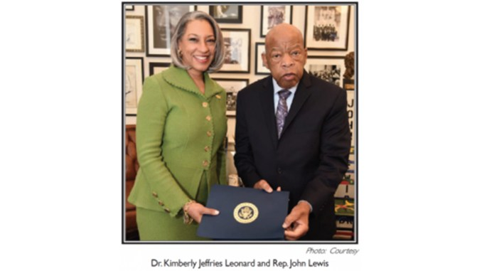 Dr. Kimberly Jeffries Leonard and Rep. John Lewis