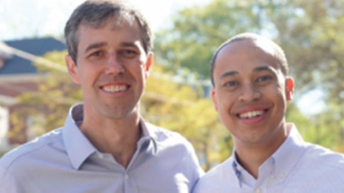 (l-r) Presidential Candidate Beto O'Rourke and Norfolk Delegate Jay Jones.