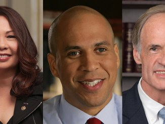 """""""That should not be the case. I'm excited to co-found this caucus and confront this public health challenge, and I want to thank my EPW colleagues Senators Tammy Duckworth (left) and Cory Booker (center) for their dedicated leadership,"""" said Senator Tom Carper (D-DE) (right)."""