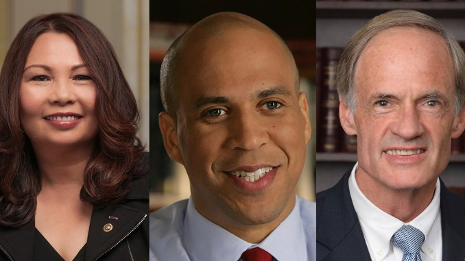 """That should not be the case. I'm excited to co-found this caucus and confront this public health challenge, and I want to thank my EPW colleagues Senators Tammy Duckworth (left) and Cory Booker (center) for their dedicated leadership,"" said Senator Tom Carper (D-DE) (right)."