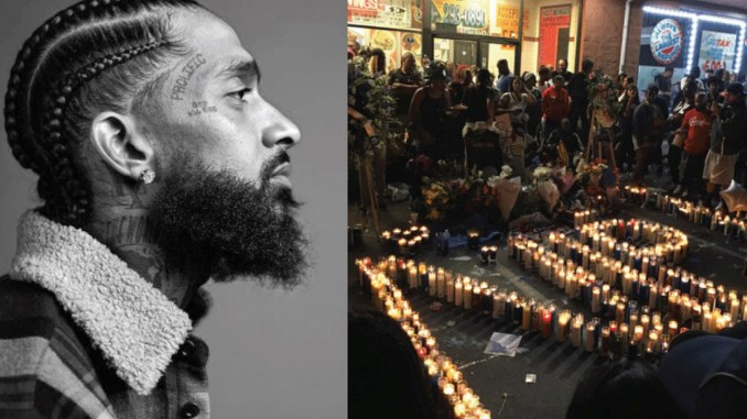 Rapper/entrepreneur Nipsey Hussle (Courtesy Photo) A peaceful vigil is set in front of THE MARATHON CLOTHING store, near Crenshaw and Slauson in South L.A., in honor of the slain rapper and beloved community leader. (vigil photo Brandon I. Brooks, Los Angeles Sentinel)
