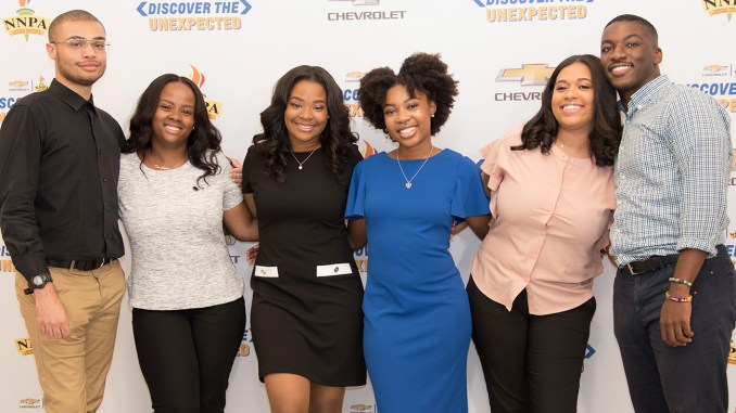 In addition to the cash and access to an amazing car, full-time sophomores, juniors and seniors attending Historically Black Colleges and Universities (HBCUs) who are at least 18 years old, will also experience exciting challenges while discovering and documenting inspirational stories about the African American community. (Pictured from left: 2018 Chevrolet DTU Fellows: Tyvan Burns, Denver Lark, Ila Wilborn, Daja Henry, Diamond Durant, Natrawn Maxwell)