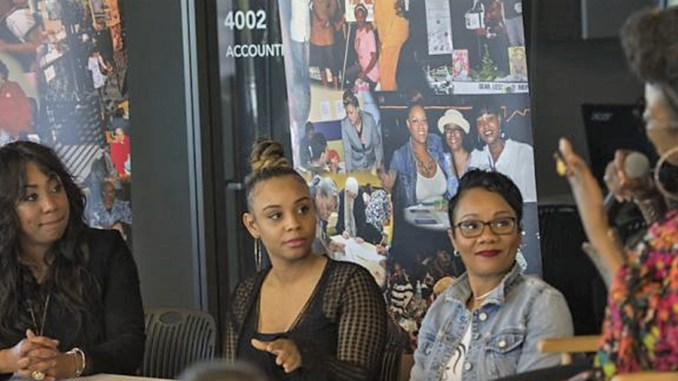 (l-r) Faatemah Ampey, Essence Shabazz, Briana McCall Cress and Stephenetta (isis) Harmon (Photo by: Steve Floyd | MSR News)
